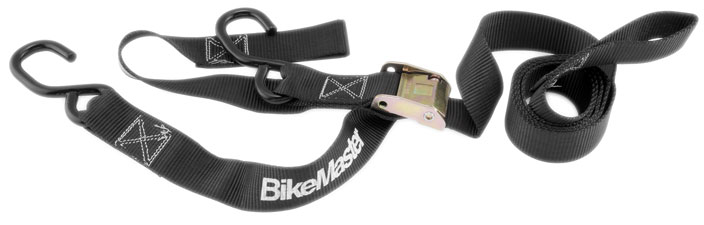 BikeMaster Tiedowns With Integrated Soft Hooks BLACK